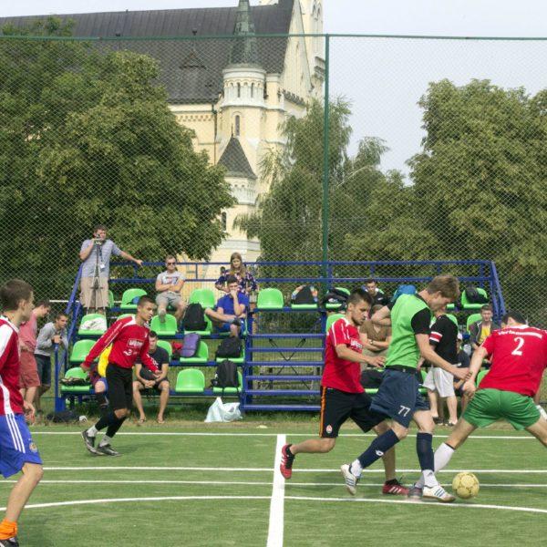 Футбольне поле у Фастові біля костелу в Центрі Святого Мартіна
